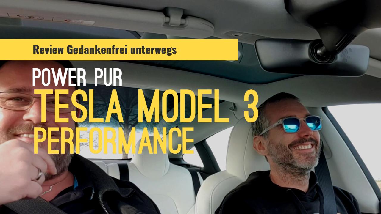 Tesla Model 3 Performance im Test und Fahrbericht